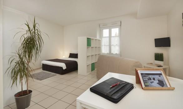 Salle séjour appart hotels residence ancenis
