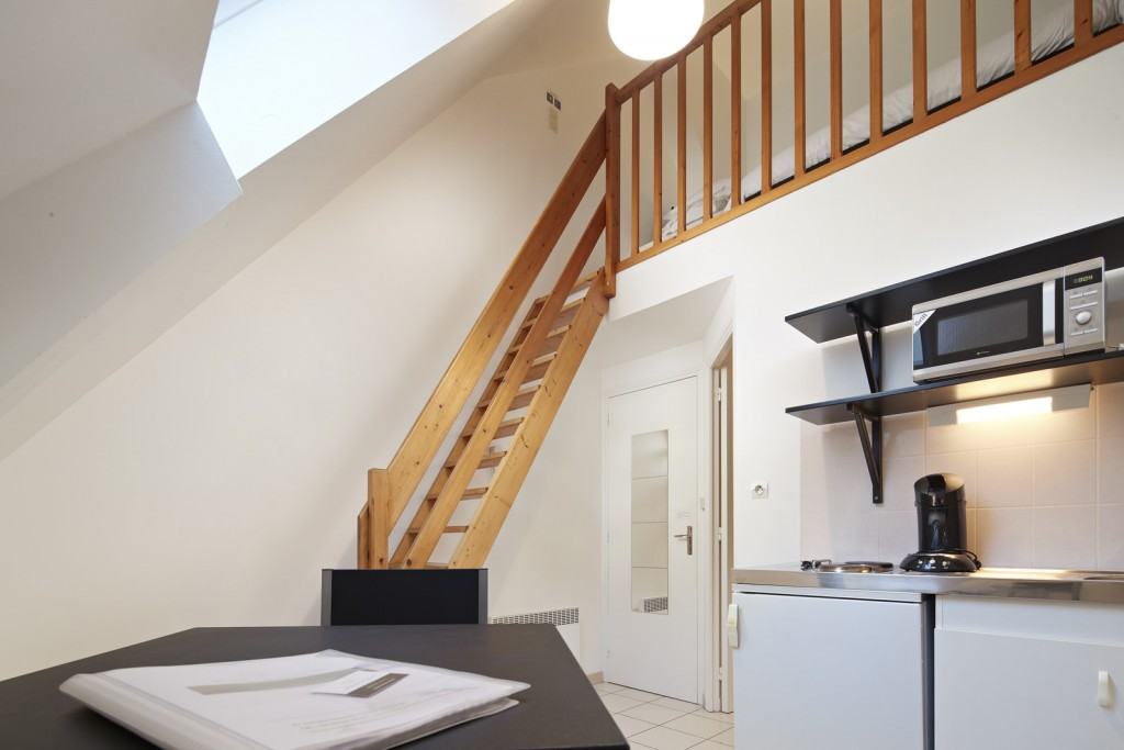 Interieur studio appart hotel ancenis